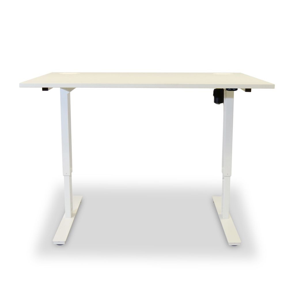 Altitude Sit Stand Desk Single White Frame Height